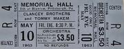 The Clancy Brothers Vintage Ticket