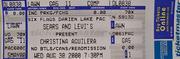 Christina Aguilera Vintage Ticket