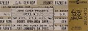 Bruce Willis Vintage Ticket