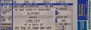 Slipknot Vintage Ticket