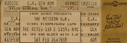 The Mission U.K. Vintage Ticket