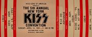 The 5th Annual New York Kiss Convention Vintage Ticket