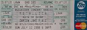 Metallica Vintage Ticket