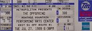 The Offspring Vintage Ticket