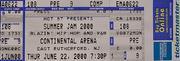 Summer Jam 2000 Vintage Ticket