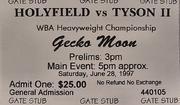 Holyfield VS Tyson 2 Vintage Ticket