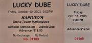 Lucky Dube Vintage Ticket
