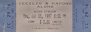 Celilio And Kapono Vintage Ticket
