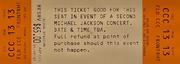 Michael Jackson Vintage Ticket