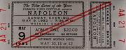 Napoleon Vintage Ticket