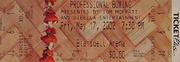 Professional Boxing Vintage Ticket