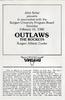 Outlaws Program reverse side