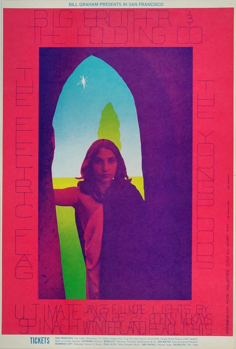 Big Brother And The Holding Company Vintage Concert Poster