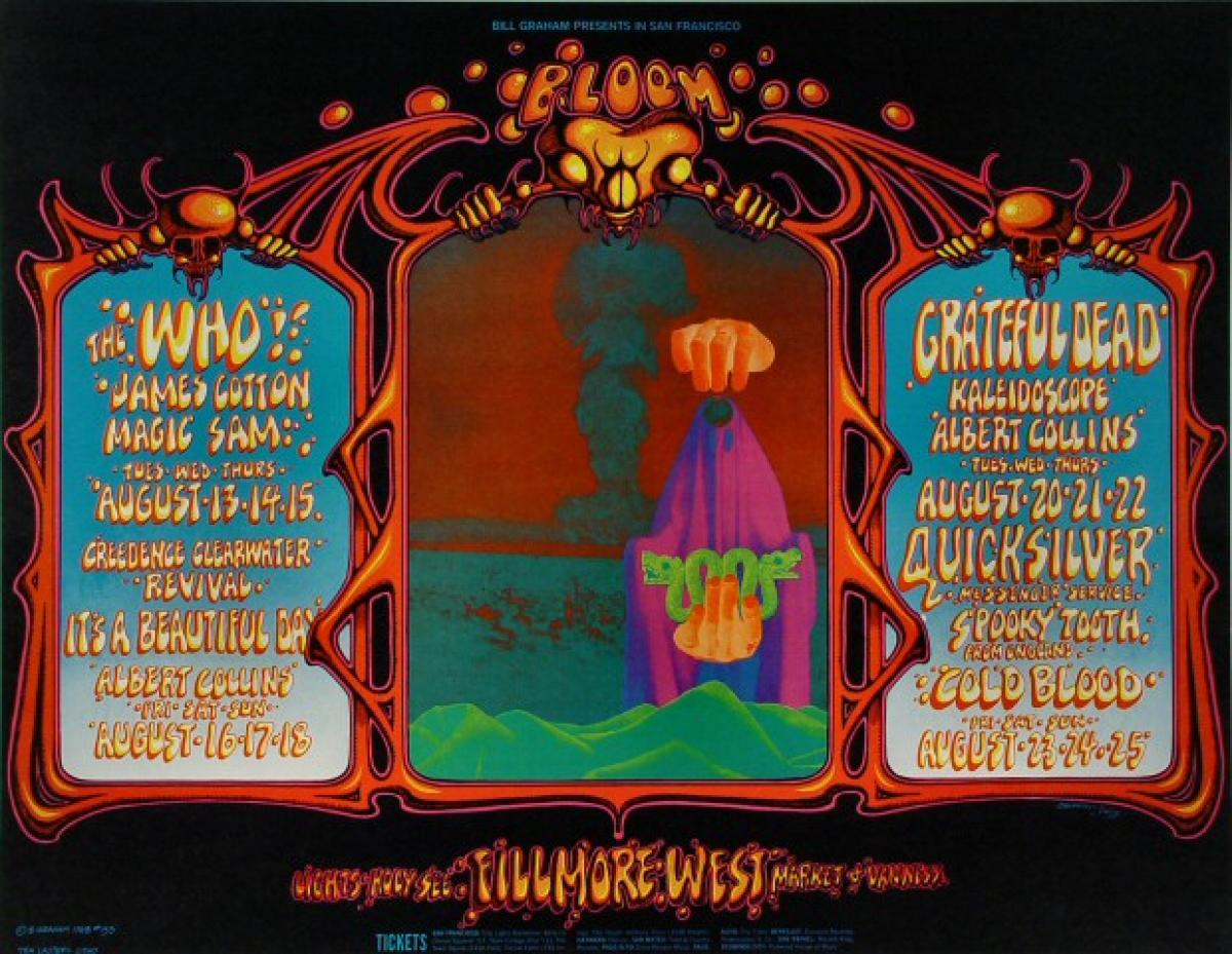 The Who Vintage Concert Poster From Fillmore West Aug 13