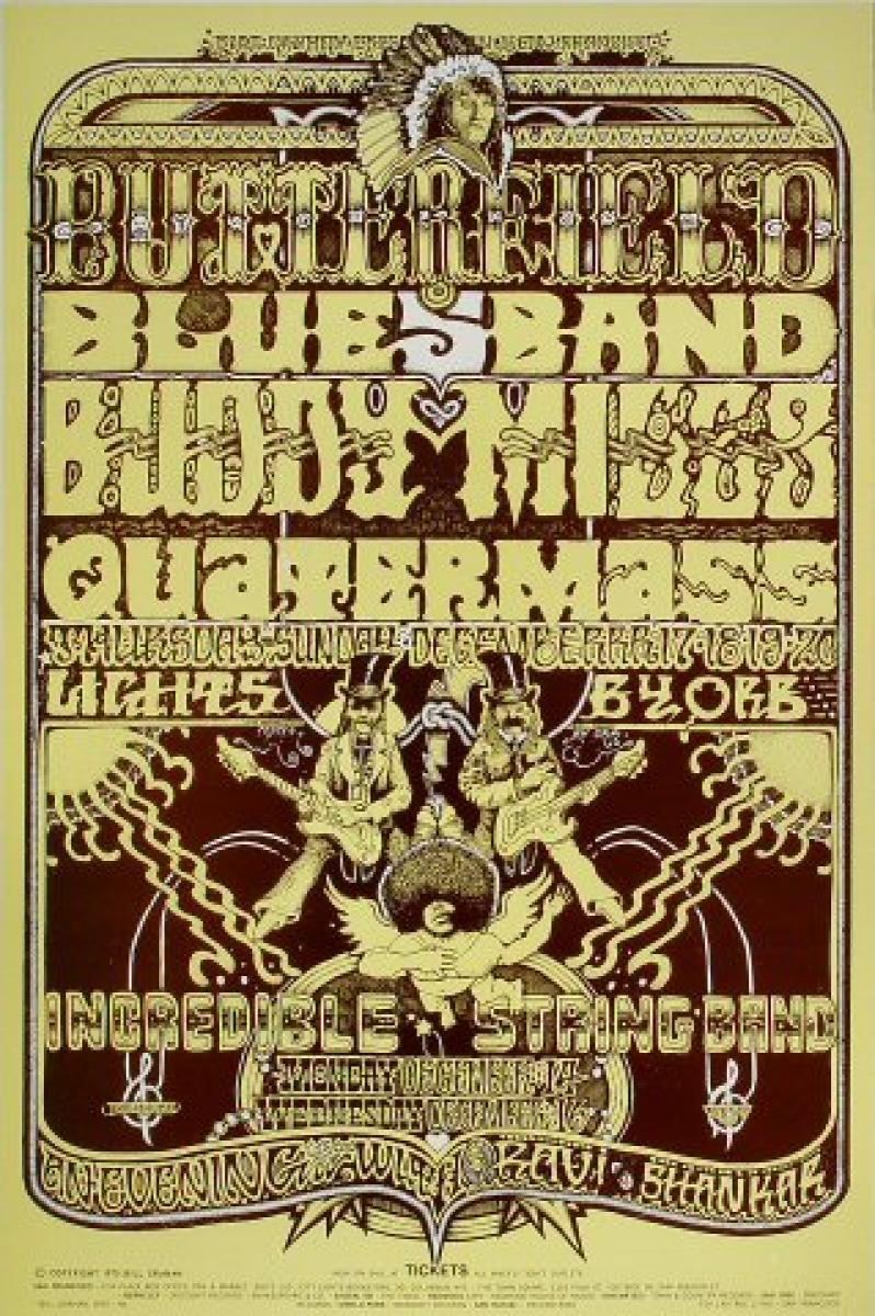 the paul butterfield blues band vintage concert poster
