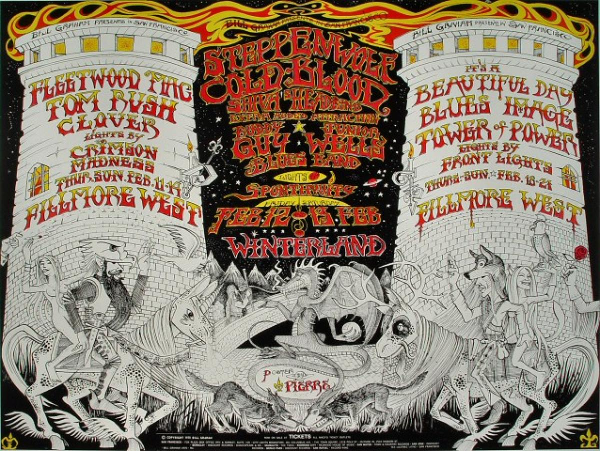 Fleetwood Mac Vintage Concert Poster From Fillmore West