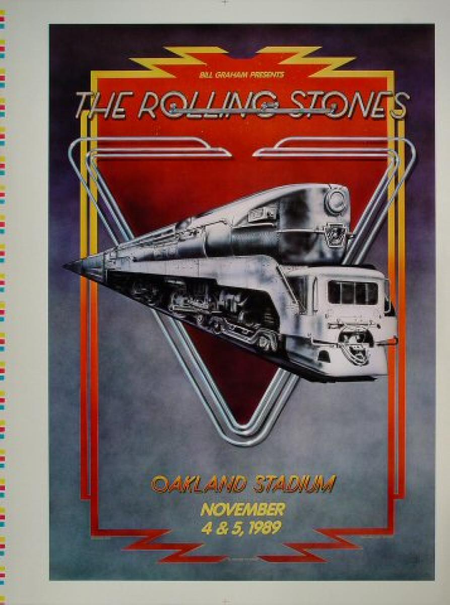 The Rolling Stones Vintage Concert Proof From Oakland