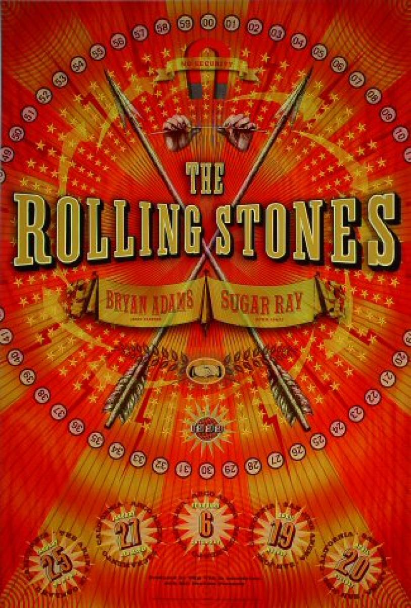 The Rolling Stones Vintage Concert Poster From Oakland