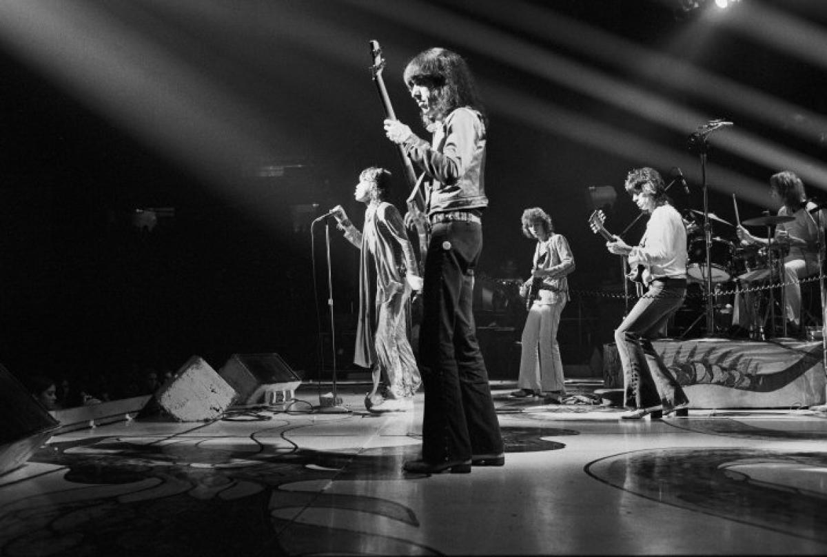 The Rolling Stones Vintage Concert Fine Art Print From