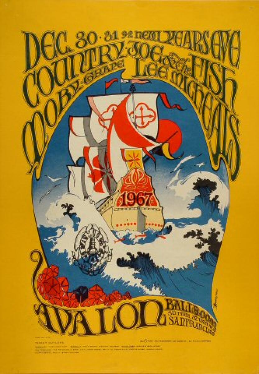Moby Grape Vintage Concert Poster From Avalon Ballroom