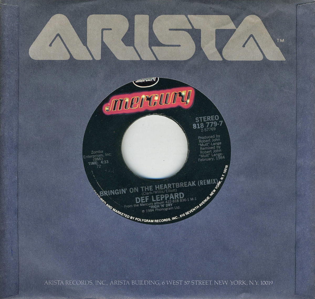 Def Leppard Vinyl 7