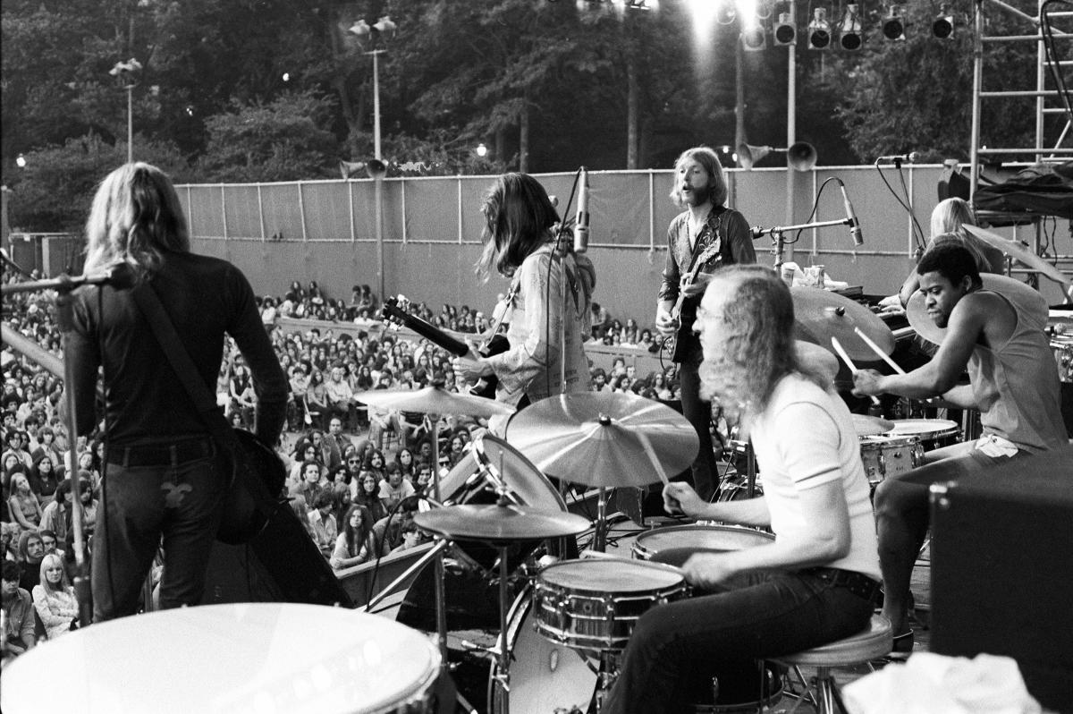 the allman brothers band vintage concert fine art print from central park jul 21 1971 at. Black Bedroom Furniture Sets. Home Design Ideas
