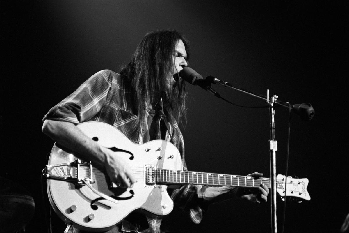 Neil Young Vintage Concert Fine Art Print From New Haven