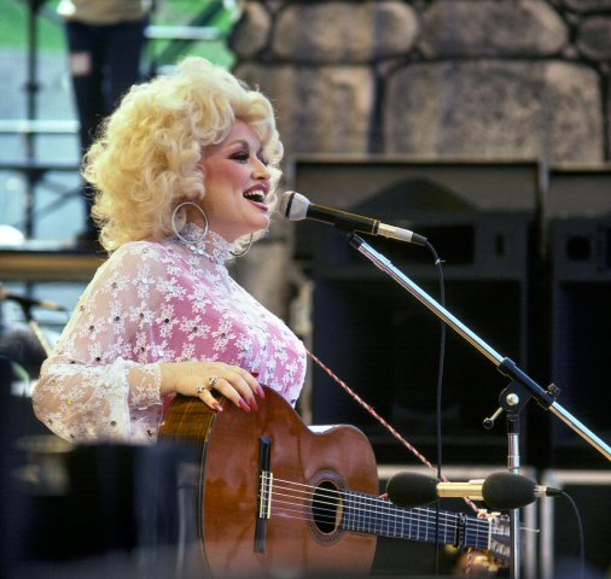 Dolly Parton Vintage Concert Fine Art Print From Oakland