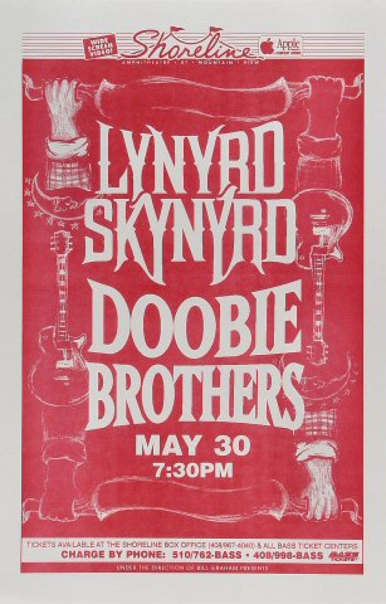 Lynyrd Skynyrd Vintage Concert Poster From Shoreline