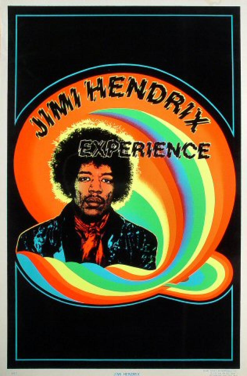 jimi hendrix experience vintage concert poster  1981 at