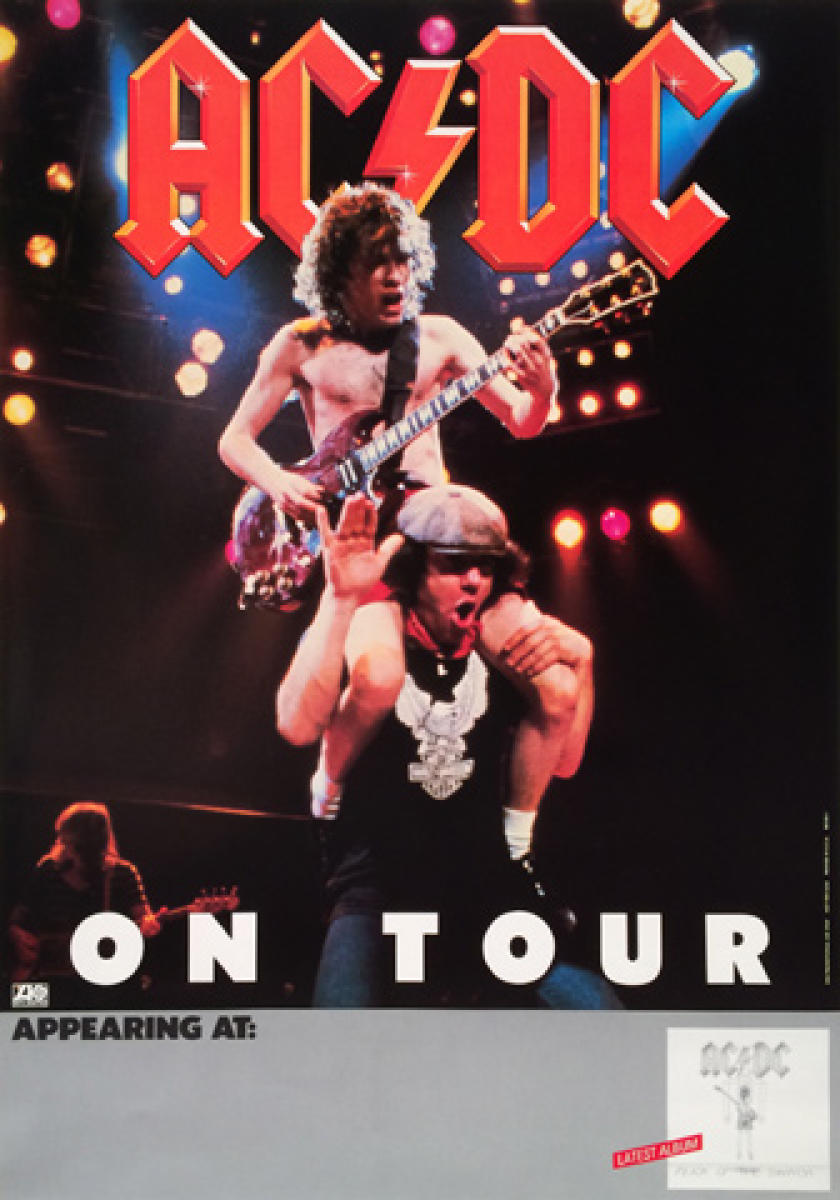 Ac Dc Vintage Concert Poster 1983 At Wolfgang S
