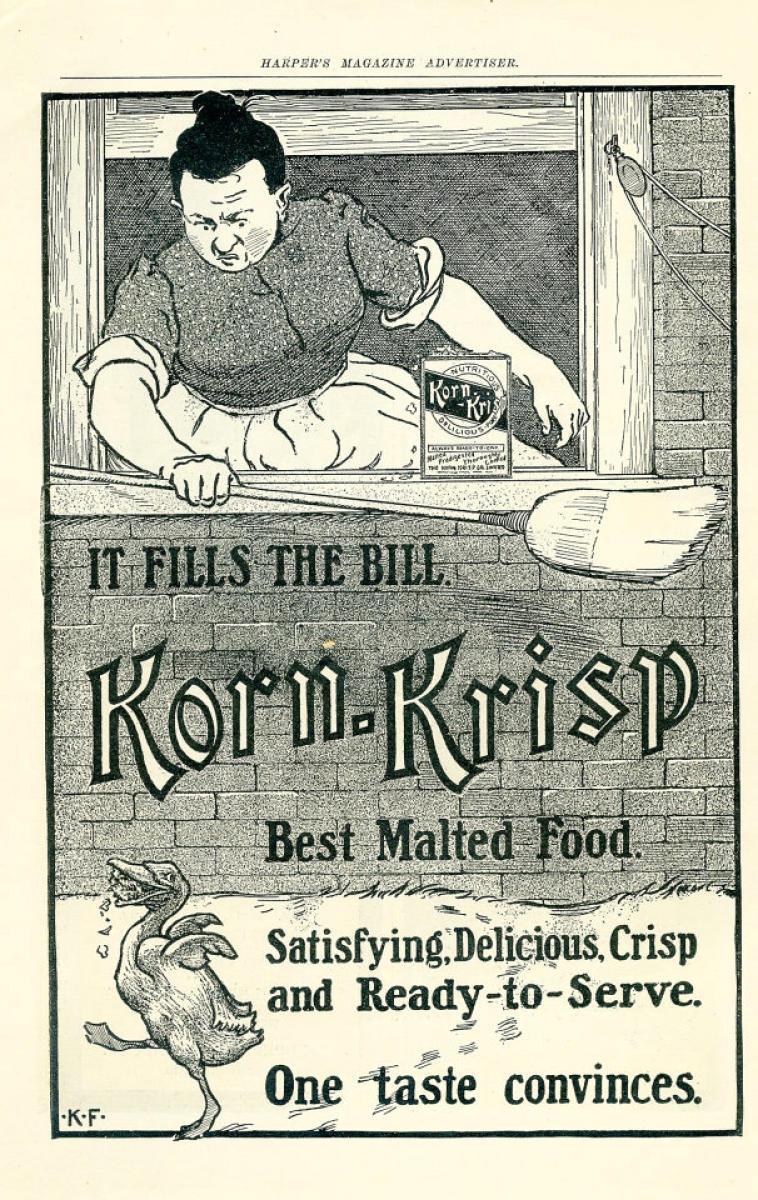Korn-Krisp Vintage Ad, 1903 at Wolfgang's