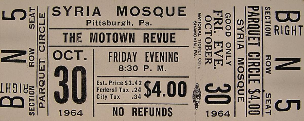 The Motown Revue Vintage Concert Vintage Ticket From Syria