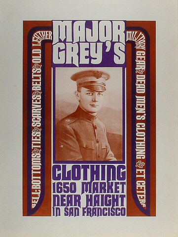 Major Grey's Clothing Poster