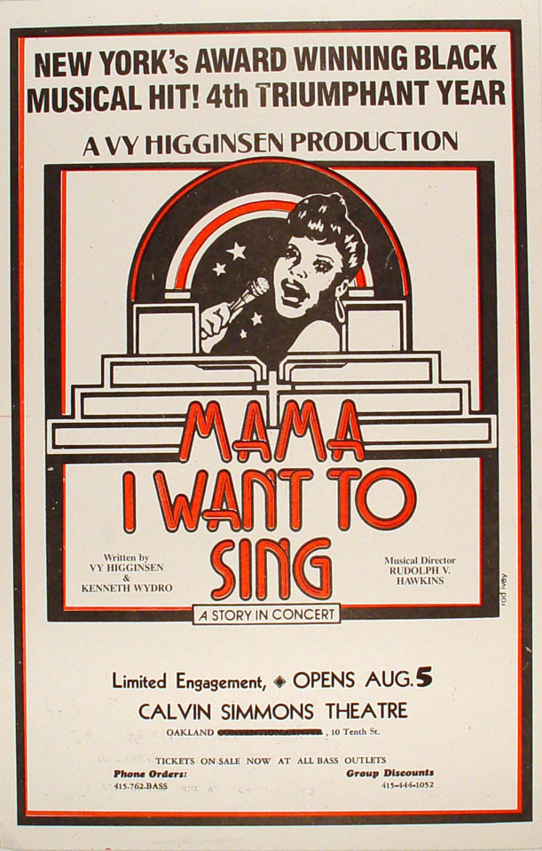Mama, I Want To Sing Poster