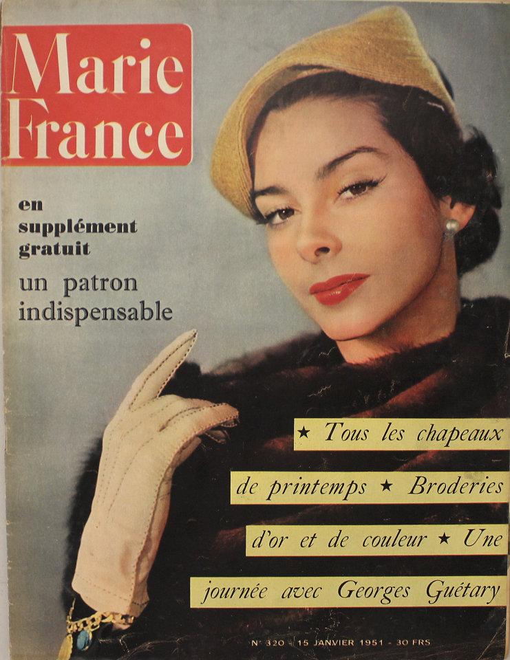 marie france no 320 magazine jan 15 1951 at wolfgang 39 s. Black Bedroom Furniture Sets. Home Design Ideas