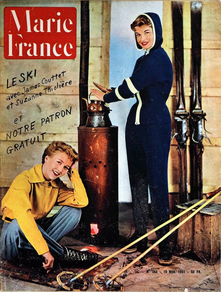 marie france no 364 magazine nov 19 1951 at wolfgang 39 s. Black Bedroom Furniture Sets. Home Design Ideas