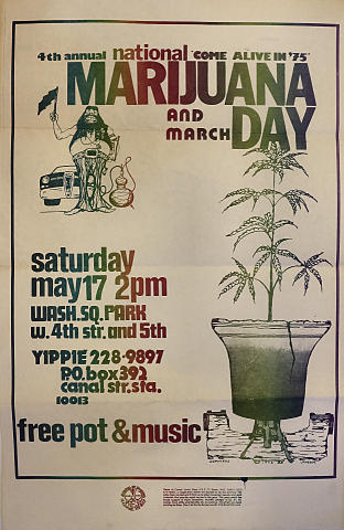 Marijuana and March Day Poster