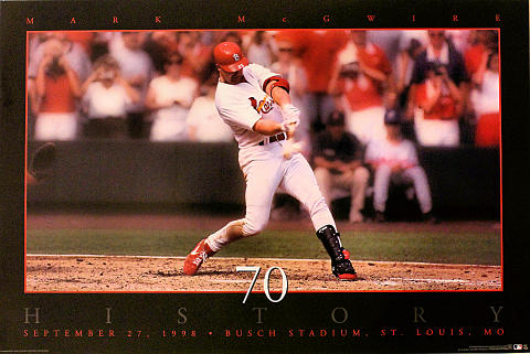 Mark McGwire 70 History Poster