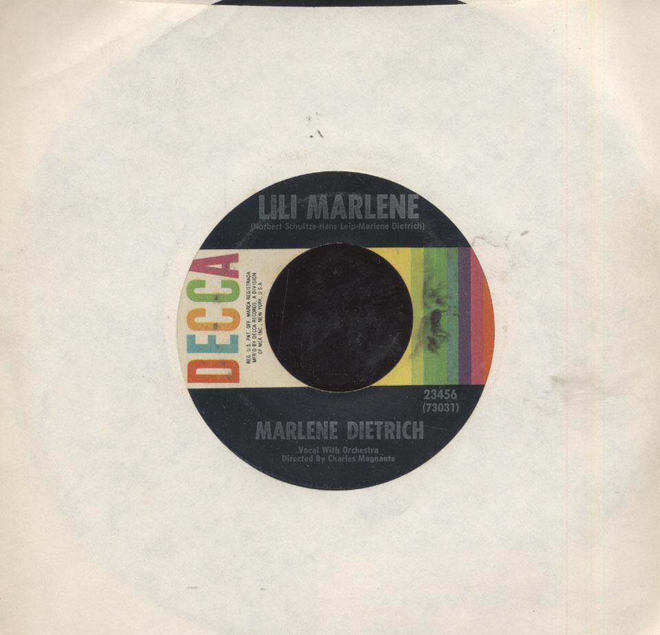 """Marlene Dietrich Vinyl 7"""" (Used)"""