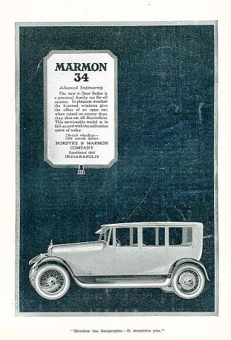 Marmon 34: 4-Door Sedan Vintage Ad
