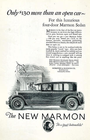 Marmon: Four-Door Sedan Vintage Ad