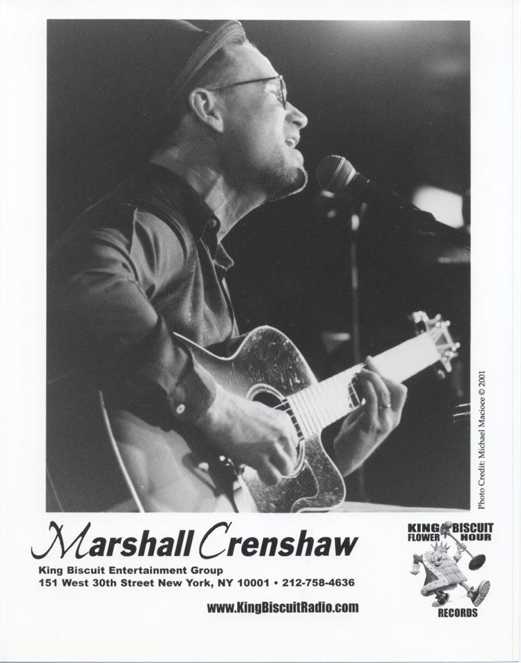 Marshall Crenshaw Promo Print