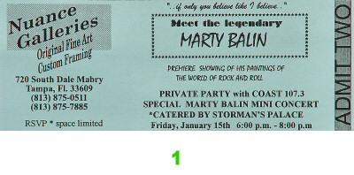 Marty Balin Vintage Ticket