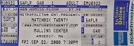 Matchbox Twenty Vintage Ticket
