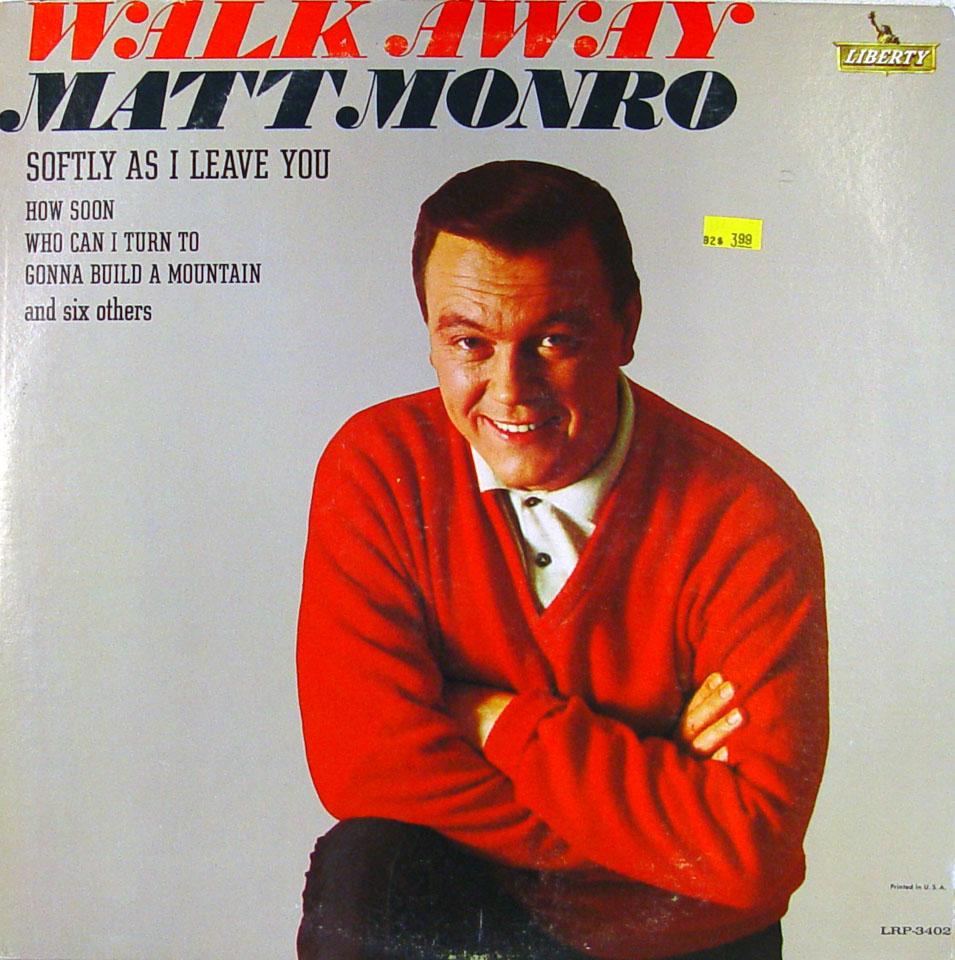 """Matt Monro Vinyl 12"""" (Used)"""