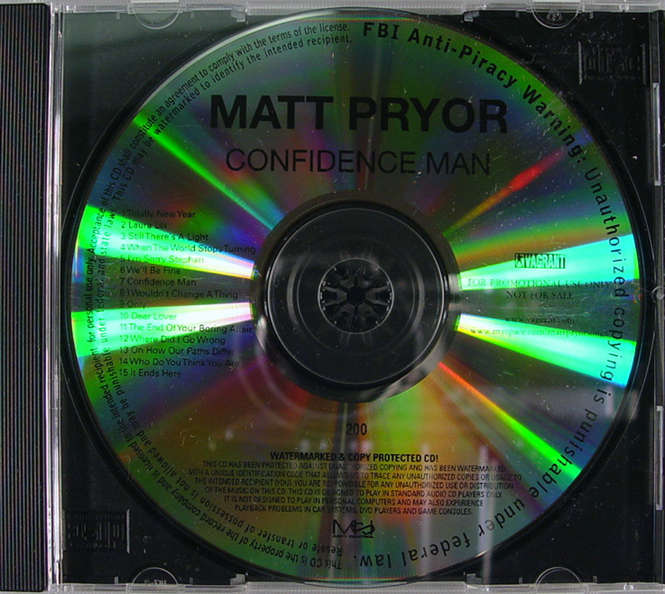 Matt Pryor CD