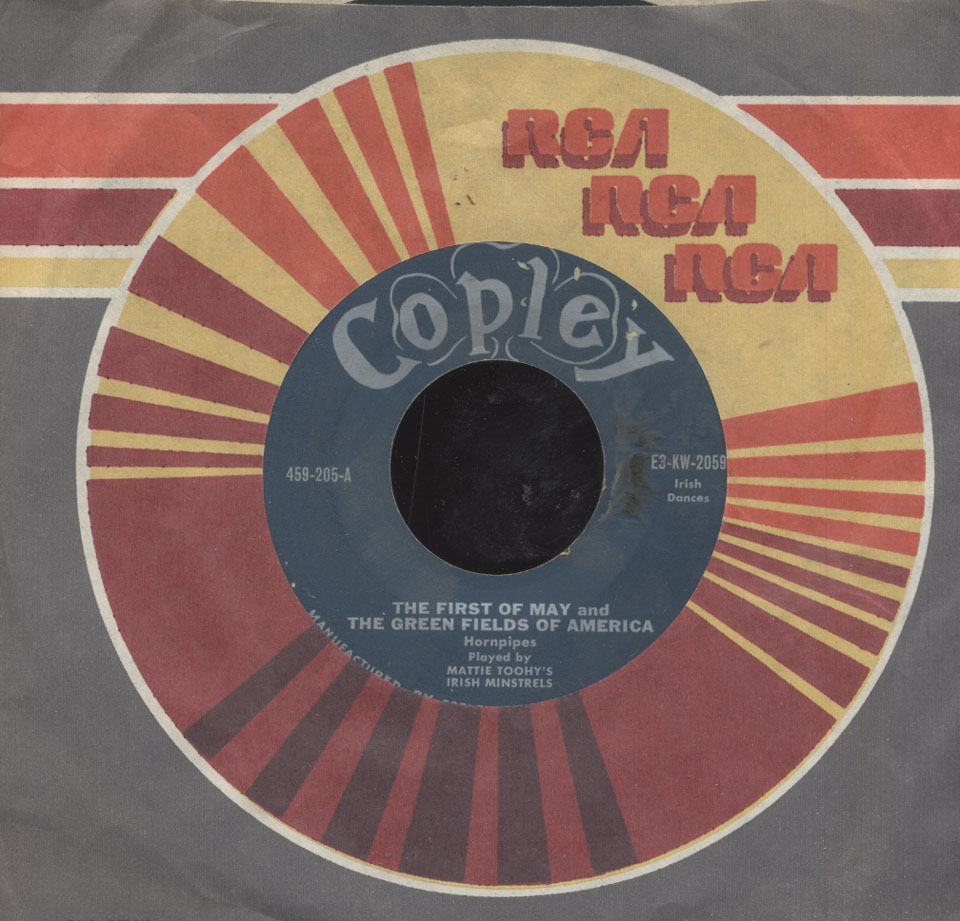 "Mattie Toohy's Irish Minstrels Vinyl 7"" (Used)"