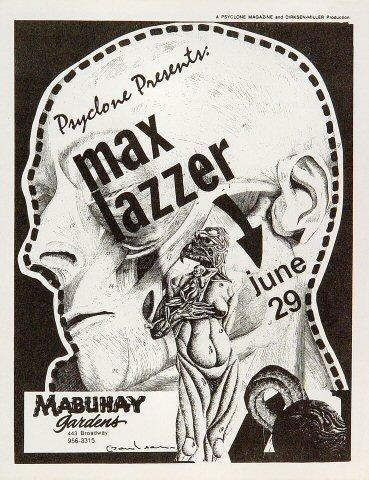 Max Lazzer Handbill