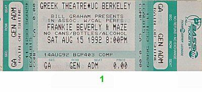 Maze Featuring Frankie Beverly Vintage Ticket